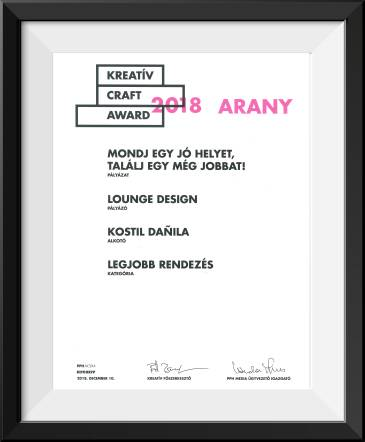 KREATÍV CRAFT AWARD-en